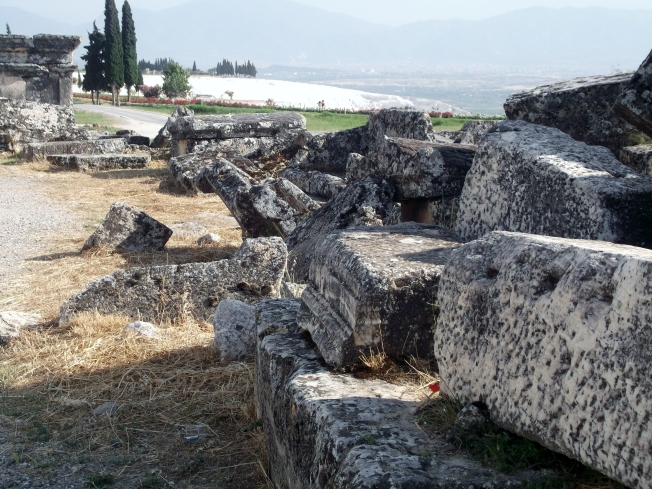 The Necropolis, with Pamukkale and the valley below in the background.