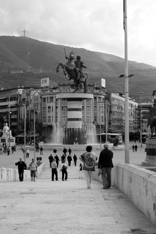 I was surprised when we arrived in Skopje and discovered the entire city is in black and white.