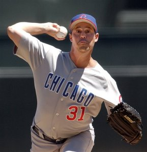 Maddux, pictured here as a crazy person, though whether more from the eyes or uniform is up for debate
