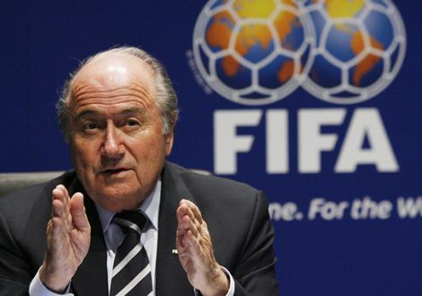 Sepp Blatter, pictured here without horns and sippy cup of children's blood
