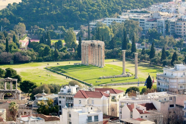 Temple of Olympian Zeus and Hadrian's Gate. Interesting Hadrian fact: He loved to travel, just like me!