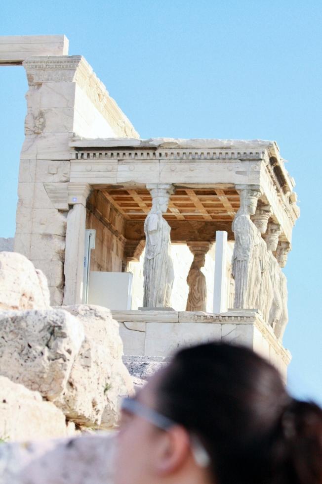 The Erectheion, dedicated to Athena