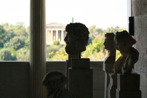 Inside the Agora of Athens, Temple of Hephaestus in the background