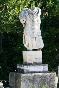 Statue of Roman Emperor Hadrian. Interesting fact: Hadrian was a lot higher on the 'nice guy emperor' list than Nero.